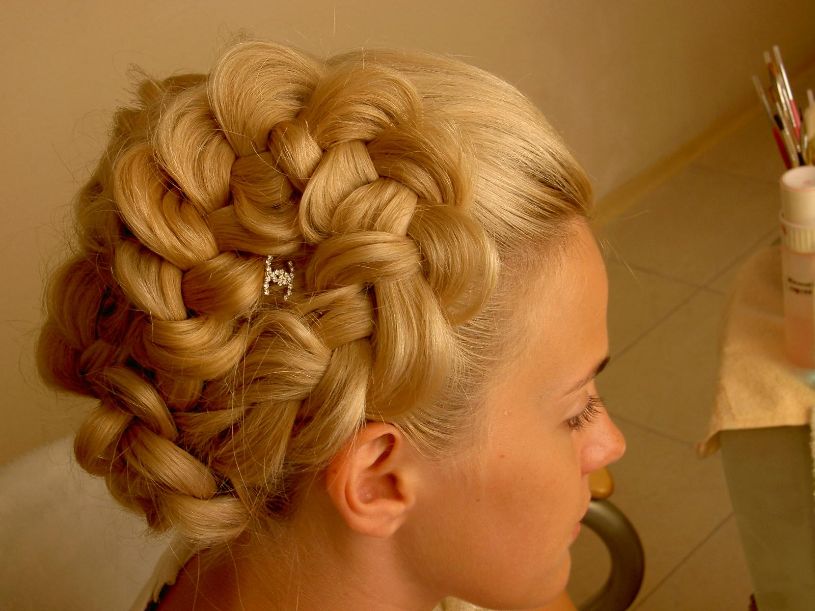 Фото причесок из кос свадебные